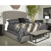 Gerlane Upholstered 2 Piece Bed Set (King) - Graphite