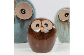 Brown Small Owl - Set of 2