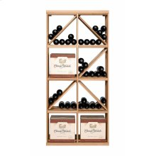 Apex 6' Case & Diamond Bin Modular Wine Rack - OVERSTOCK