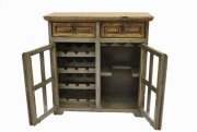 Nogal/Gray Wine Cabinet Product Image