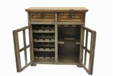 Nogal/Gray Wine Cabinet