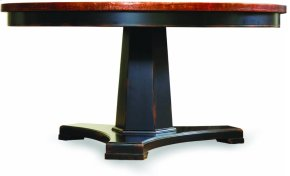 Sanctuary 48 in Round Pedestal Dining Table - Ebony & Copper