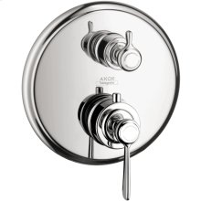 Chrome Montreux Thermostatic Trim with Volume Control and Diverter