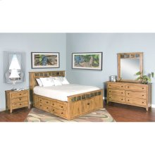 "Sedona Queen Storage Bed 66"" X 96"" X 54"" H"