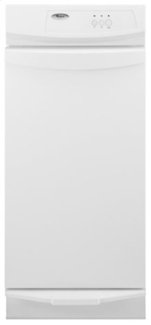 """White-on-White Whirlpool® 15"""" Undercounter Trash Compactor"""