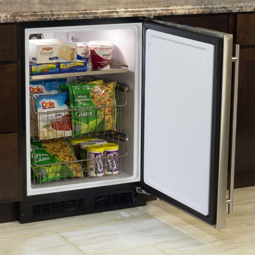 """24"""" Marvel All Freezer - Solid Overlay Panel - Integrated Right Hinge"""