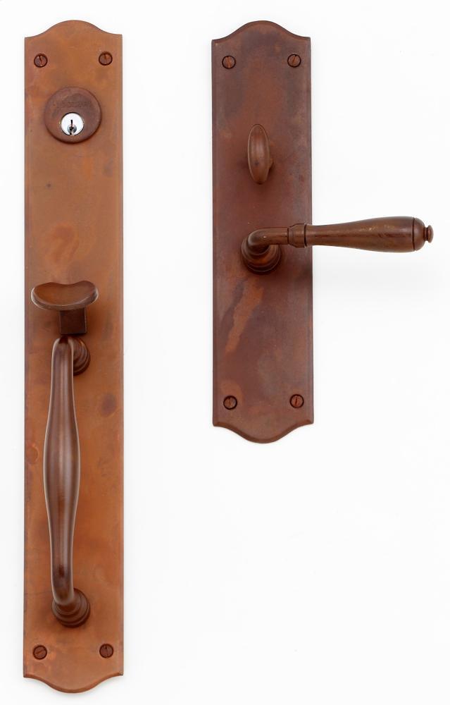 """Comte Entrance Handle Set - Complete single cylinder set for 2 1/4"""" door"""