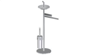 Free Standing Tissue Holder,Toilet Brush Holder & Towel Bar