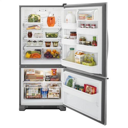 30-inches Wide Bottom-freezer Refrigerator With Accu-chill(tm) System - 18.7 Cu. Ft.