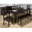 Dark Rustic Prairie Dining Table With Butterfly Leaf Product Image