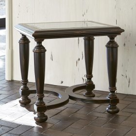 Scrolling Gate End Table