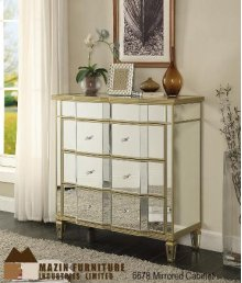 Mirrored 3 Drawer Console