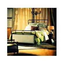Upholstered Metal King Bed
