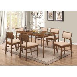 Sasha Retro Golden Brown Five-piece Dining Set