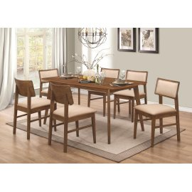 Sasha Retro Golden Brown Five-piece Dining Set