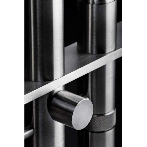 Floor fitted shower column with sleek and elegant design