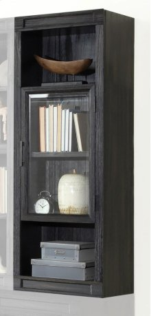 "21"" Glass Door Bookcase Top"