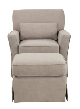 Emerald Home U3346-04-03-2pcset Roxbury Swivel Glider Chair & Ottoman, Putty