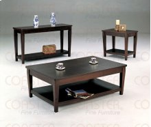 """TABLE/END, CAPPUCCINO 26""""Lx24""""Wx22""""H"""