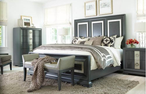 Tower Suite - Moonstone Finish Panel Bed Cal King 6/0