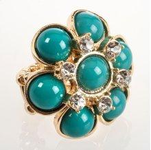 BTQ Blue Flower Ring