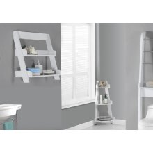 "BATHROOM ACCENT - 24""H / WHITE WALL MOUNT SHELF"