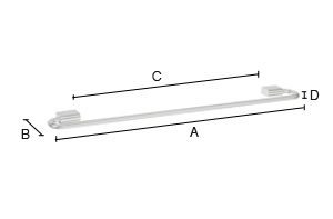 Additional Towel Rail Single PK3464