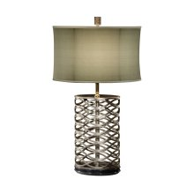 Silver Interlaced Iron Table Lamp