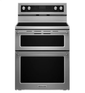 KitchenAid® 30-Inch 5 elements Electric Double Oven Convection Range - Stainless Steel