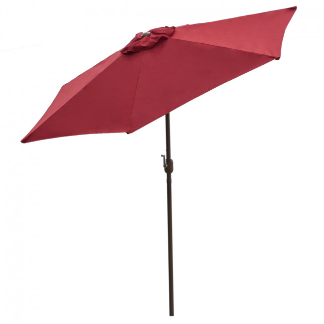 Panama Jack Red 9 Ft Alum Patio Umbrella W/Crank
