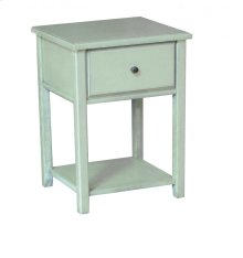 Pine 1 Drawer Nightstand
