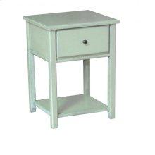 Pine 1 Drawer Nightstand