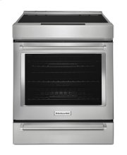 30-Inch 4-Element Induction Slide-In Convection Range with Baking Drawer - Stainless Steel Product Image