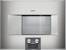 """BS 474 611 400 series Combi-steam oven Stainless steel-backed full glass door Width 24"""" (60 cm) Right-hinged"""