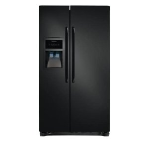 22.1 Cu. Ft. Side-by-Side Refrigerator - BLACK