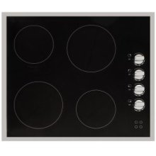 "24"" (60cm) electric ceramic cooktop with stainless steel trim"