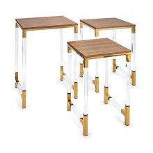 Mave Acrylic Leg Tables - Set of 3