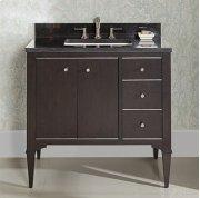 "Charlottesville w/Nickel 36"" Vanity Drawer-Right - Vintage Black Product Image"