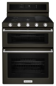30-Inch 5 Burner Gas Double Oven Convection Range - Black Stainless Product Image