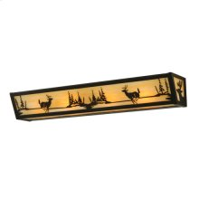 "30""W Deer at Lake Vanity Light"