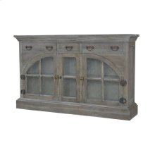 Farmhouse China Credenza In Waterfront Grey Stain And White Wash