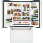 Cafe Energy Star &Reg; 22.2 Cu. Ft. Counter-Depth French-Door Refrigerator With Hot Water Dispenser