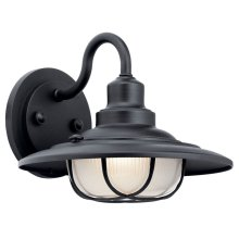 Harvest Ridge 1 Light Wall Light Textured Black