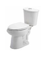 "White Maxwell® Se Dual Flush 1.1/1.6 Gpf 10"" Rough-in Two-piece Elongated Ergoheight Toilet"