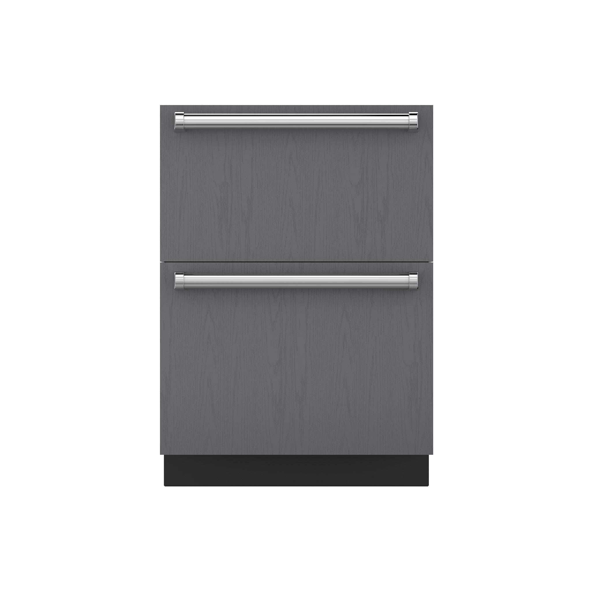 bottom gate iron handle refrigerator with sub drawers freezer zero oak at paneled pin subzero details