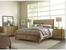 Upholstered Queen Sheltered Bed - Complete