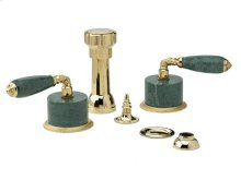VALENCIA Four Hole Bidet Set K4338F - Polished Brass