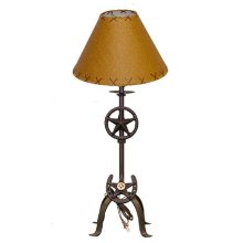 "21"" Lamp W/Stars & Horseshoe With Shade"