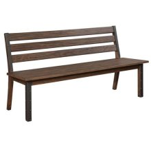 Atwater Industrial Vintage Bourbon Bench