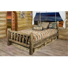 Homestead Beds with Storage, Stain & Lacquer Finish
